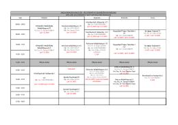 FTR Bölümü 2015-2016 Güz Dönemi 3. Sınıf Ders Programı