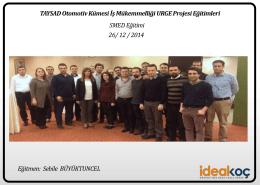 SMED Eğitimi26/12/2014-Bursa