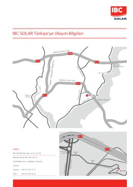 IBC SOLAR Türkiye`ye Ulaşım Bilgileri