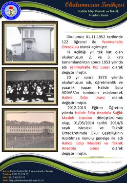 Okulumuzdan Görüntüler - ANKARA - YENİMAHALLE