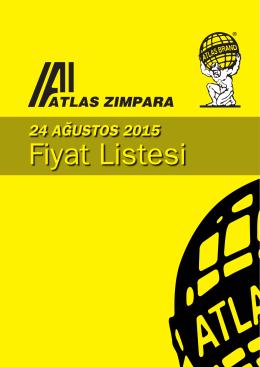 Atlas Zımpara 24.08.2015 Fiyat Listesi