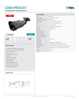 IPR202V DataSheet - Ttec Güvenlik Kameraları