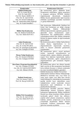 Komisyonlar - Atatürk Üniversitesi