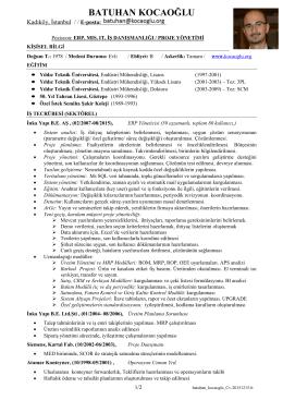 Özgeçmiş PDF - Batuhan KOCAOĞLU