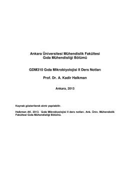 Gıda mik_2_gdm 310 - Gıda Mühendisliği