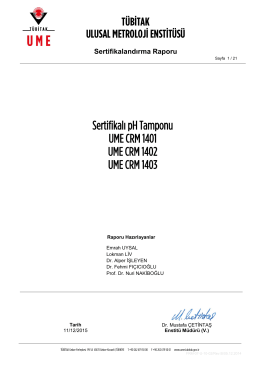 Sertifikalı pH Tamponu UME CRM 1401 UME CRM 1402 UME CRM