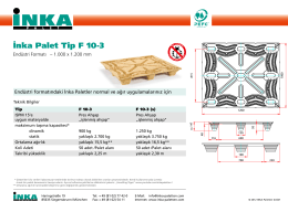 İnka Palet Tip F10-3