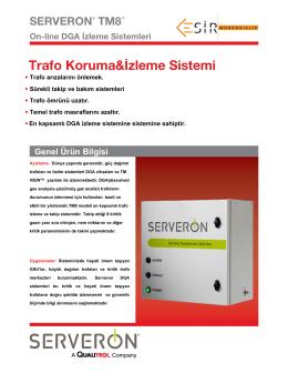TM 8On-line TRAFO Gazı İzleme Sistemi