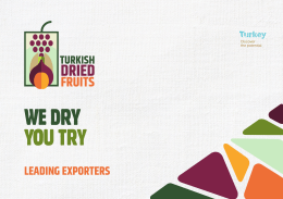 leadıng exporters - Turkish Dried Fruits