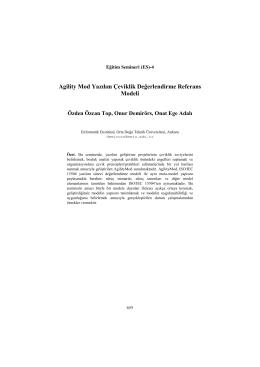 Agility Mod Yazılım Çeviklik Değerlendirme Referans Modeli