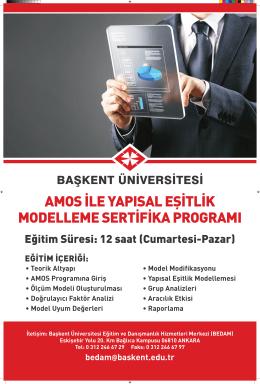 AMOS İle Yapısal Eşitlik Modelleme Sertifika Programı