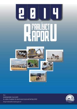 2014 Yılı Çalışma Raporu - Eskişehir İl Gıda Tarım ve