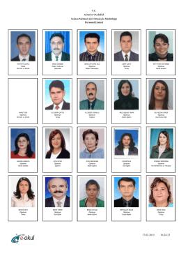 Öğretmenlerimiz - Mehmet Akif Ortaokulu