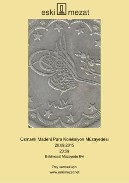 Osmanlı Madeni Para Koleksiyon Müzayedesi