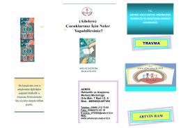 Travma - Artvin Rehberlik ve Araştırma Merkezi