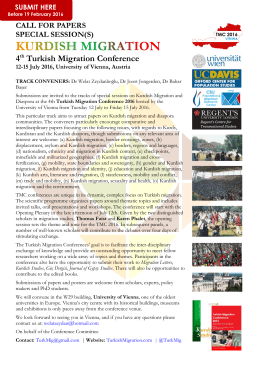 Special Sessions CfP: Kurdish Migration