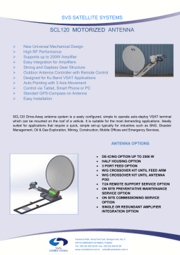 SCL-120 PDF - SVS Satellite Systems