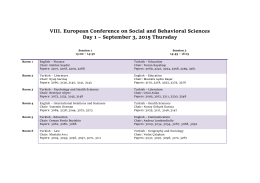 VIII. European Conference on Social and Behavioral