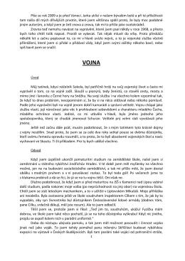 O VOJNĚ/Blahouš Voharčík