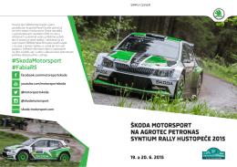 škoda motorsport na agrotec petronas syntium rally hustopeče 2015