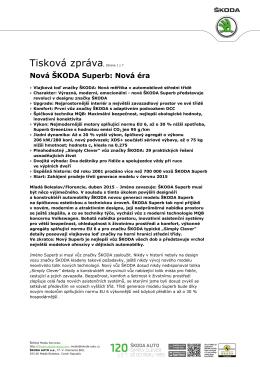 150427 Nova SKODA Superb - Tiskova mapa