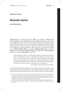 Bournův mýtus: akční film pohybu
