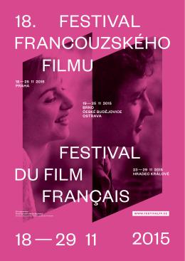 18 — 29 11 2015 francouzského 18. festival du film filmu festival