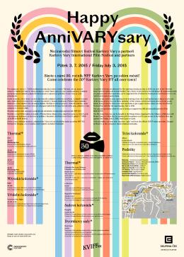 Plakát - zahájení - Mezinárodní filmový festival Karlovy Vary