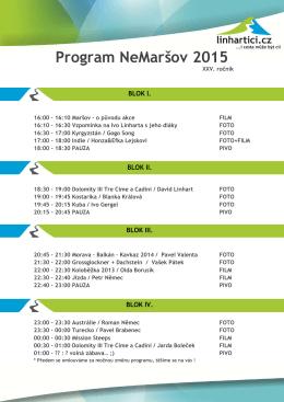 neMaršov 2015 program final