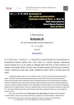 Závěrečná tisková zpráva k 56. Brněnské 16 z 20. 10. 2015