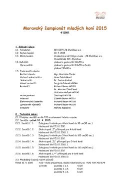 Moravský šampionát mladých koní 2015