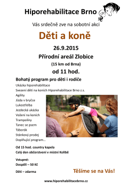 Děti a koně - Hiporehabilitace Brno