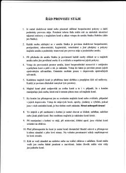 Řád provozu stáje str.1