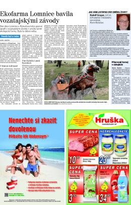 článek v moravskoslezském deníku