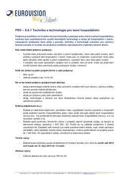 8.6.1 Technika a technologie pro lesní hospodářství