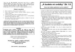 """A budete mi svědky"", Sk 1:8 (v PDF)"