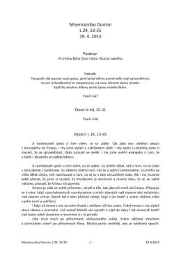 Misericordias Domini, L 24, 13