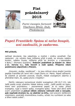 Fiat prázdninový 2015 - Římskokatolická farnost Vlachovo Březí