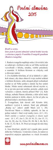 Vzkaz od prezidenta Arcidiecézní charity Olomouc
