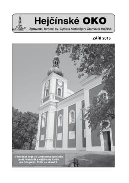Hejčínské OKO září 2015 - Farnost Olomouc Hejčín