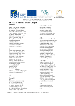 PL – A. S. Puškin: Evžen Oněgin