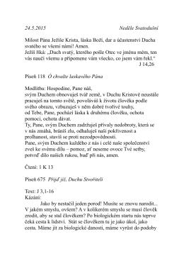 24.5.kázání P. Pokorného Svatodušní J 3,1-16