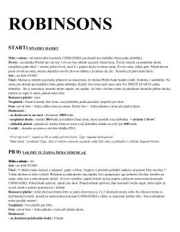 Úkoly ROBINSONS 2015 PDF