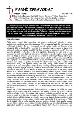 FARNÍ ZPRAVODAJ - Církev československá husitská Blansko