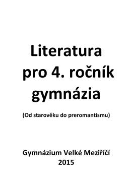 Literatura pro 4. ročník