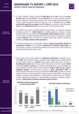 mindshare tv report | září 2015
