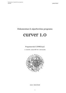 curver 1.0 - Jakub Kinšt