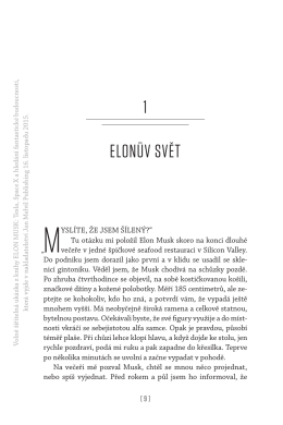 1 ELOnův SvěT - Jan Melvil Publishing