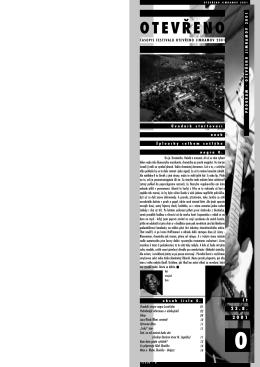 Festivalové noviny č.0 - Festival Otevřeno Jimramov