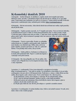 Nový Krkonošský deníček